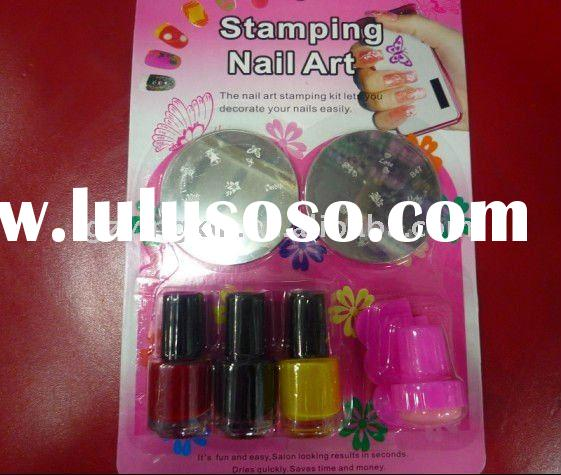 DIY stamping nail art set