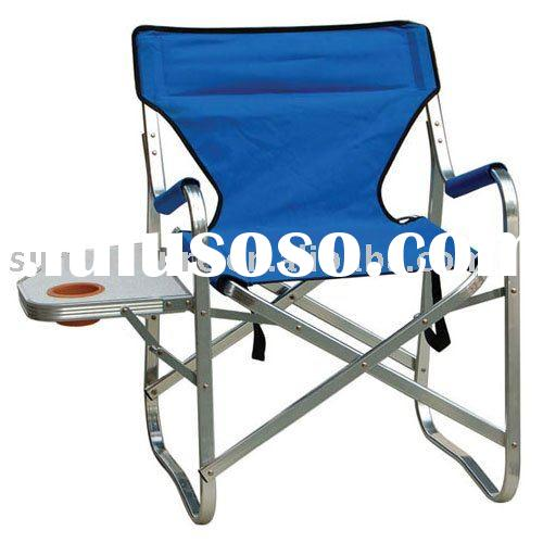 Director chair with folding side table