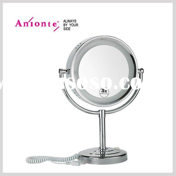 Double side makeup mirror with light function