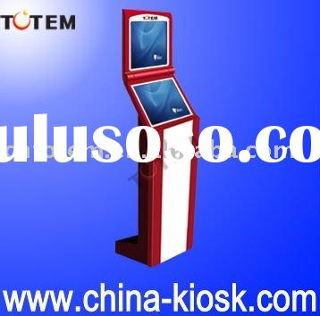 Dual TFT LCD touch screen free standing self-service kiosk
