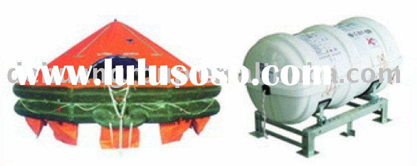 EC approved Davit-launching Type Inflatable Life raft Type D for 25 people