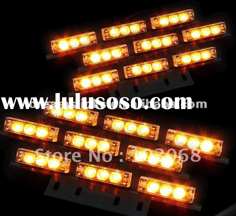 Emergency 6x9 54 LED Flashing Police Car & Truck Strobe Light / Lightbars Amber White Red Blue N