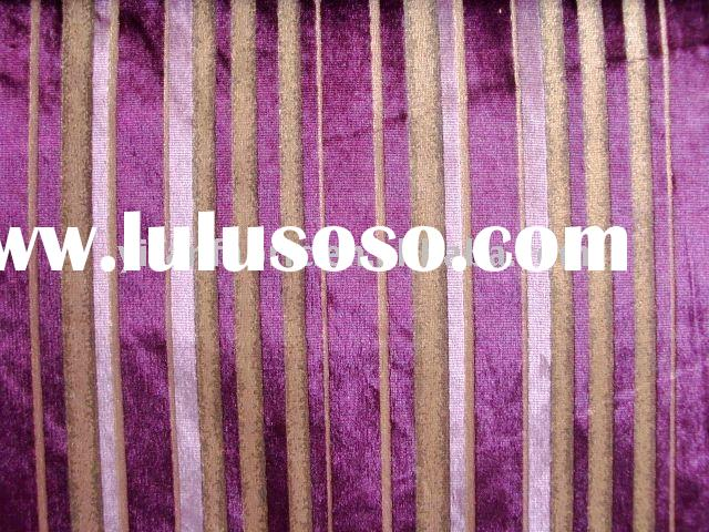 FASHION WOVEN POLYESTER GILDING DESIGN VELVET FABRIC FOR HOME DECORATION