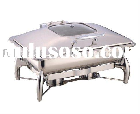 FL1011L Glass lid chafing dish/Electric chafing dish/Hydraulic chafing dish set