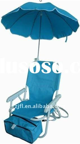 FOLDING CHILDREN BEACH CHAIR WITH UMBRELLA