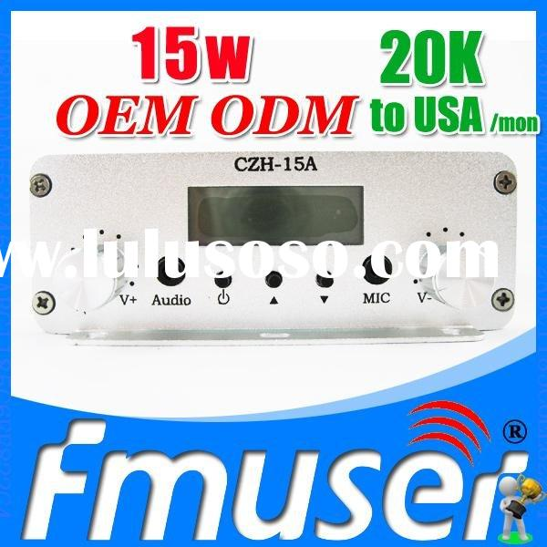 FSN015 CZH-15A 15w fm transmitter 10km wireless transmitter and receiver Sky