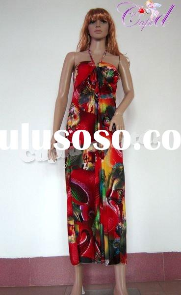 Factory wholesale maxi bohemian fashion lady dress