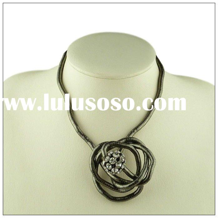 Fashion Crystal Ball Bendable Snake Chain Necklace, Fashion Snake Chain OEM Jewelry