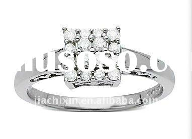 Fashion Ladies' 18K White Gold Diamond Rings Jewellery Wedding Rings