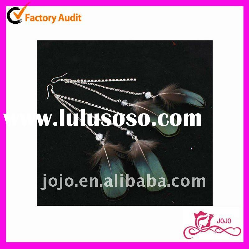 Fashion Long Feather Earrings