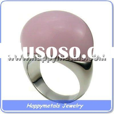 Fashion jewelry 2011 big stone rings stainless steel(R8406-2)