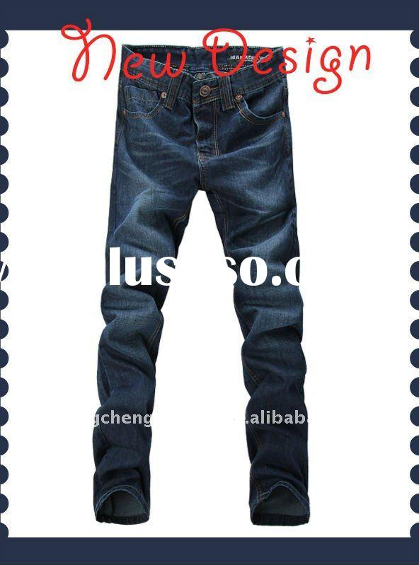 Fashion patterned skinny jeans for men