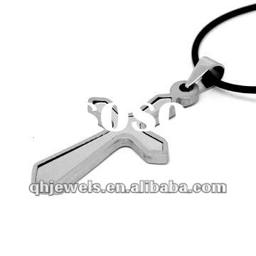 Fashion stainless steel Metal cross pendant