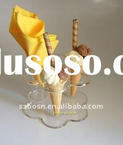 Flower Shape Acrylic Ice Cream Display