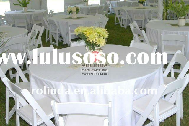 Folding Banquet Dining Table and Folding Chairs