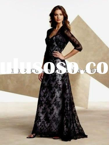 Free Shipping Black Long Evening Gown With Jeweled Back To Order In Canada Black Long Evening Gown W
