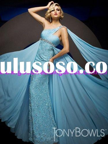 Free shipping 2011 year New Style One-shoulder Chiffon Prom dress
