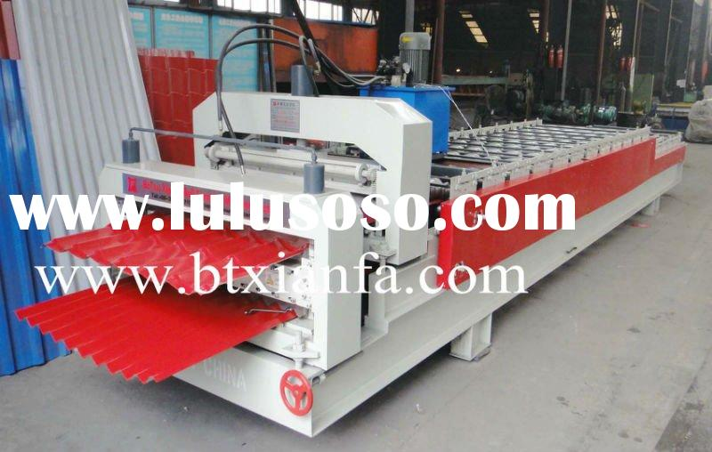 Glazed Tile And Trapezoidal Double Sheet Roll Forming Machine