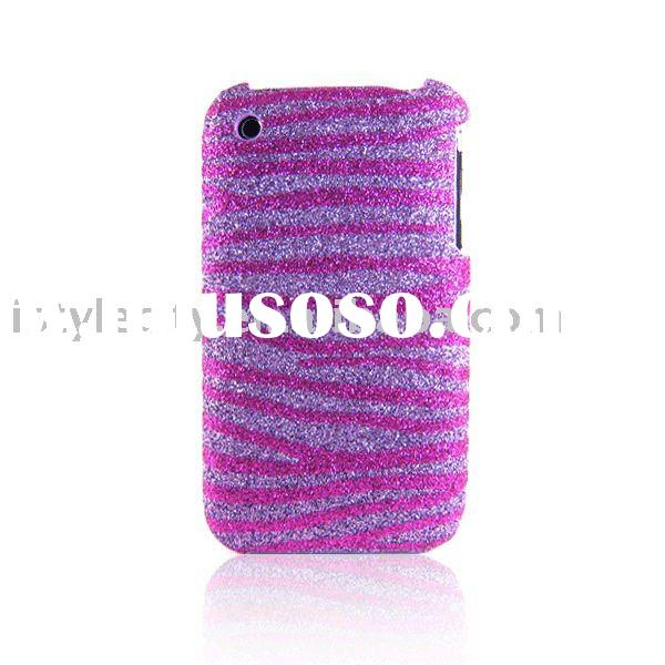 Glitter Back Cover Case for iPhone 3G/3GS (Gold Zebra)