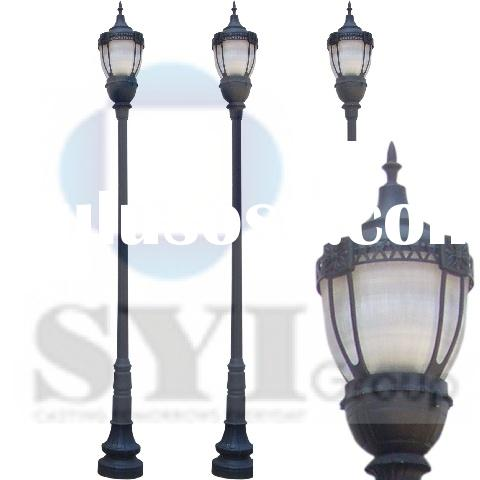 Grey Cast Iron Street Light Post