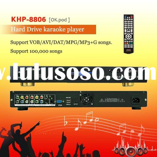 HDD Karaoke product ,Support VOB/DAT/AVI/MPG/CDG/MP3+G songs ,Multilingual MENU ,songs encryption