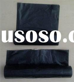 HDPE black garbage bags on roll