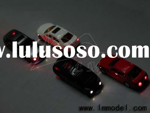 HO scale Model Car with LED light for the model train layout