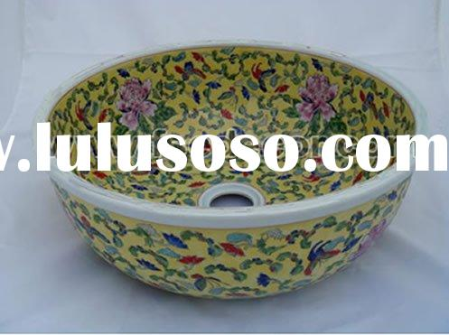 Hand Painted Bathroom Ceramic Wash Basin
