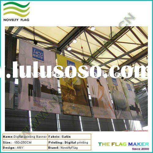 Hang banner, digital printing, royal satin fabric