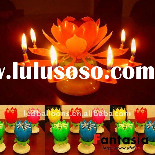 Happy Birthday Flower Candle with Music