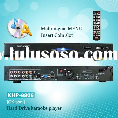 Hard device karaoke system ,Support VOB/DAT/AVI/MPG/CDG/MP3+G songs ,select songs ,songs encryption