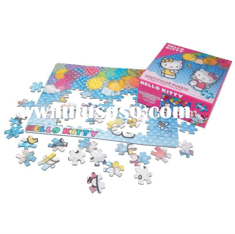 Hello Kitty Lenticular 3D jigsaw puzzle