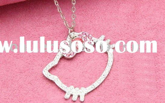 Hello kitty necklace & hello kitty costume jewelry & new style hello kitty jewelry