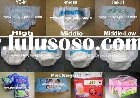 High Quality Cotton Baby Diapers/Nappies China Plant