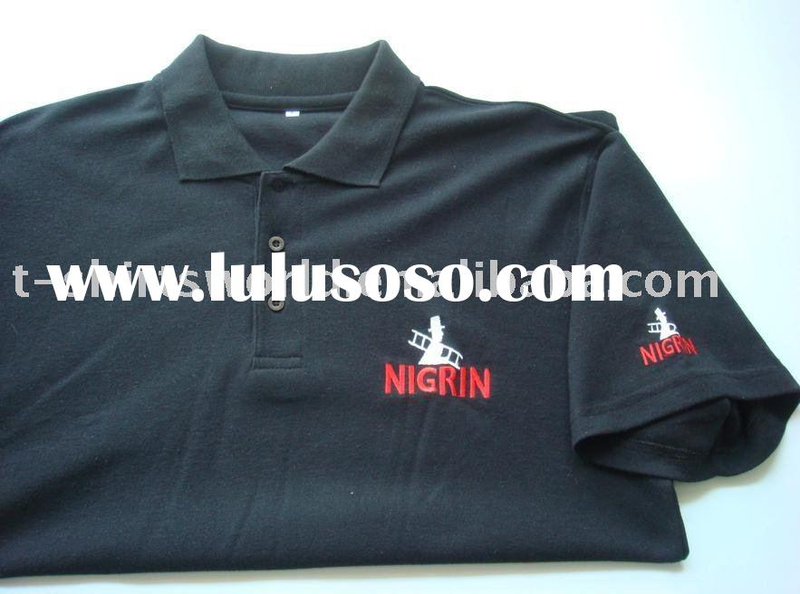 High Quality Silk Screen Printed, Logo Embroider and Labeled Polo T-shirts
