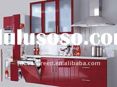 High glosssy Modular kitchen cabinet