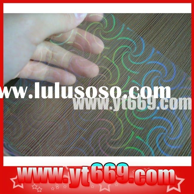 Holographic PET material water transfer film