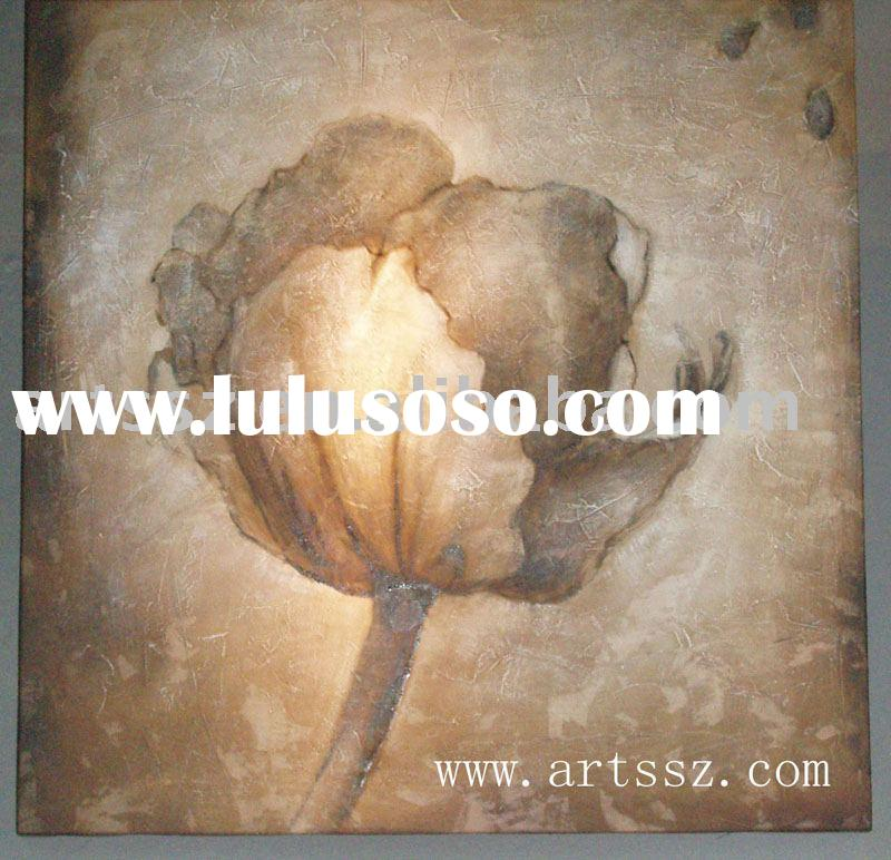 Home Decoration Flower Oil Painting On Canvas