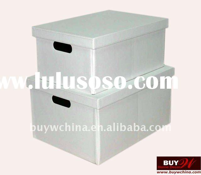 Home Decorative cardboard faux leather storage box
