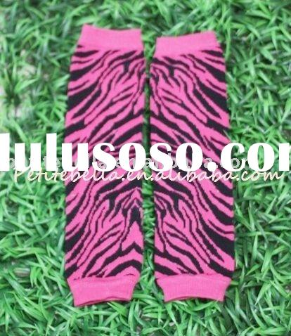 Hot Pink Zebra Print Newborn Baby Leg Warmers Leggings MALG19