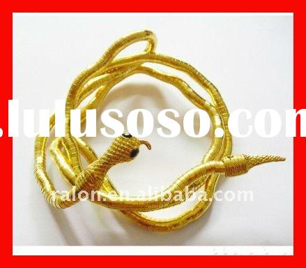 Hot-selling new fashion design antique bendy shaped snake gold bracelet necklace