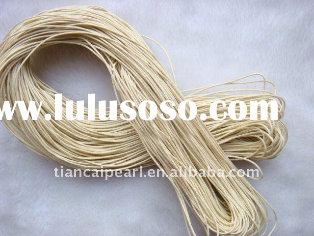 Ivory 1.0mm/1.5mm/2.0mm 500meter/Lot Beading wax cotton cord rope string Fit Garment Jewelry Finding