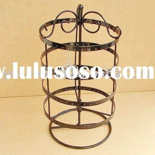 JD018H--metal 4 rotating jewelry display stand earring holder