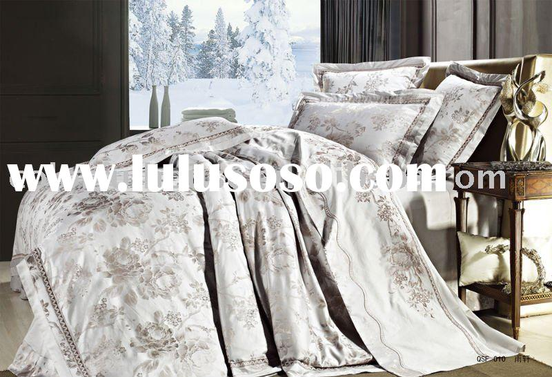 Jacquard luxury bed linen/ bedding fabric/bed spread