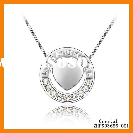 Jewelry Fashion Crystal New Special Love Necklaces ZHPS83686
