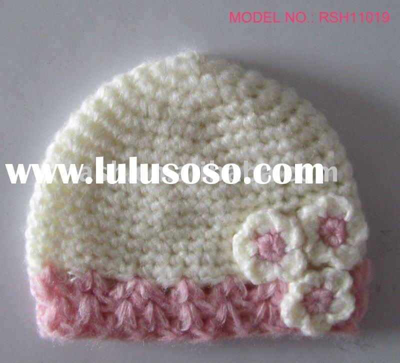 Kids Crochet Beanie with small side flower