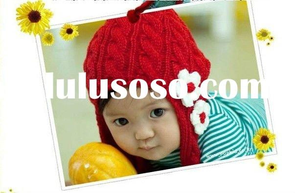 Korean style cute children hat/ cotton hat and scarf in 1
