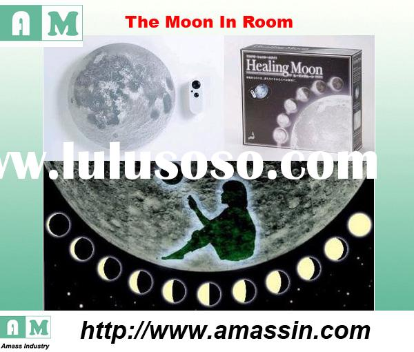 LED moonlight, Relaxing light healing moon wall lamp with remote control