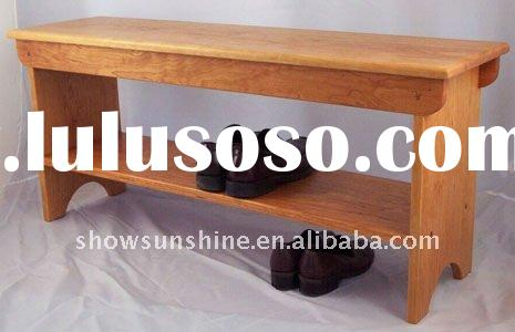 L-322 shoe bench shoe rack designs wood