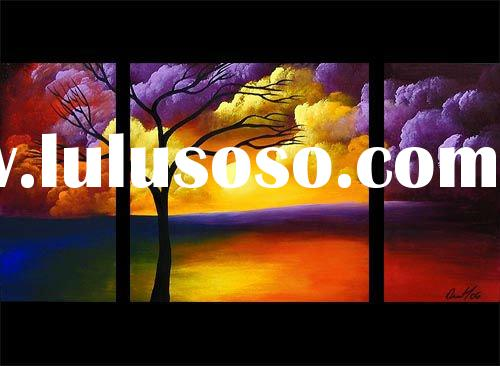 Latest Hot Selling Beautiful Acrylic Landscape Paintings On Canvas